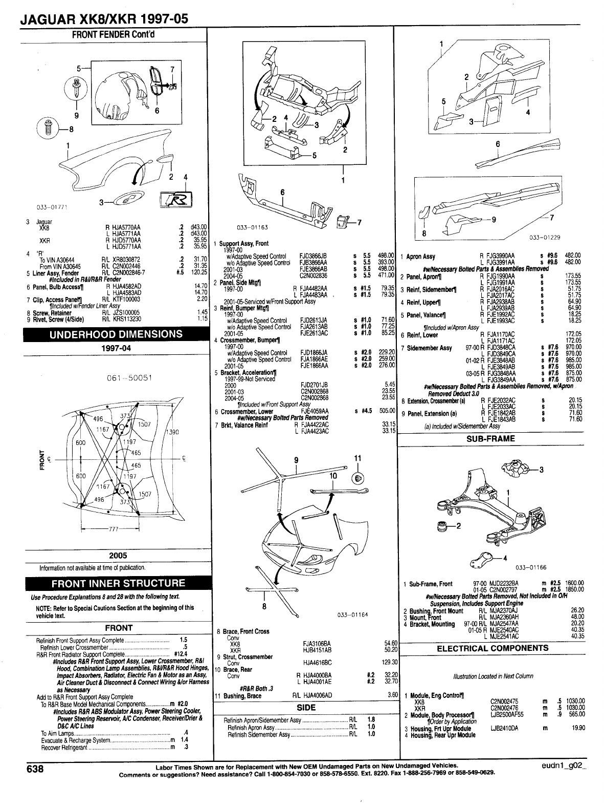 Jaguar XKR 1997 2005 Misc. Document Jaguar Parts List.PDF PDF