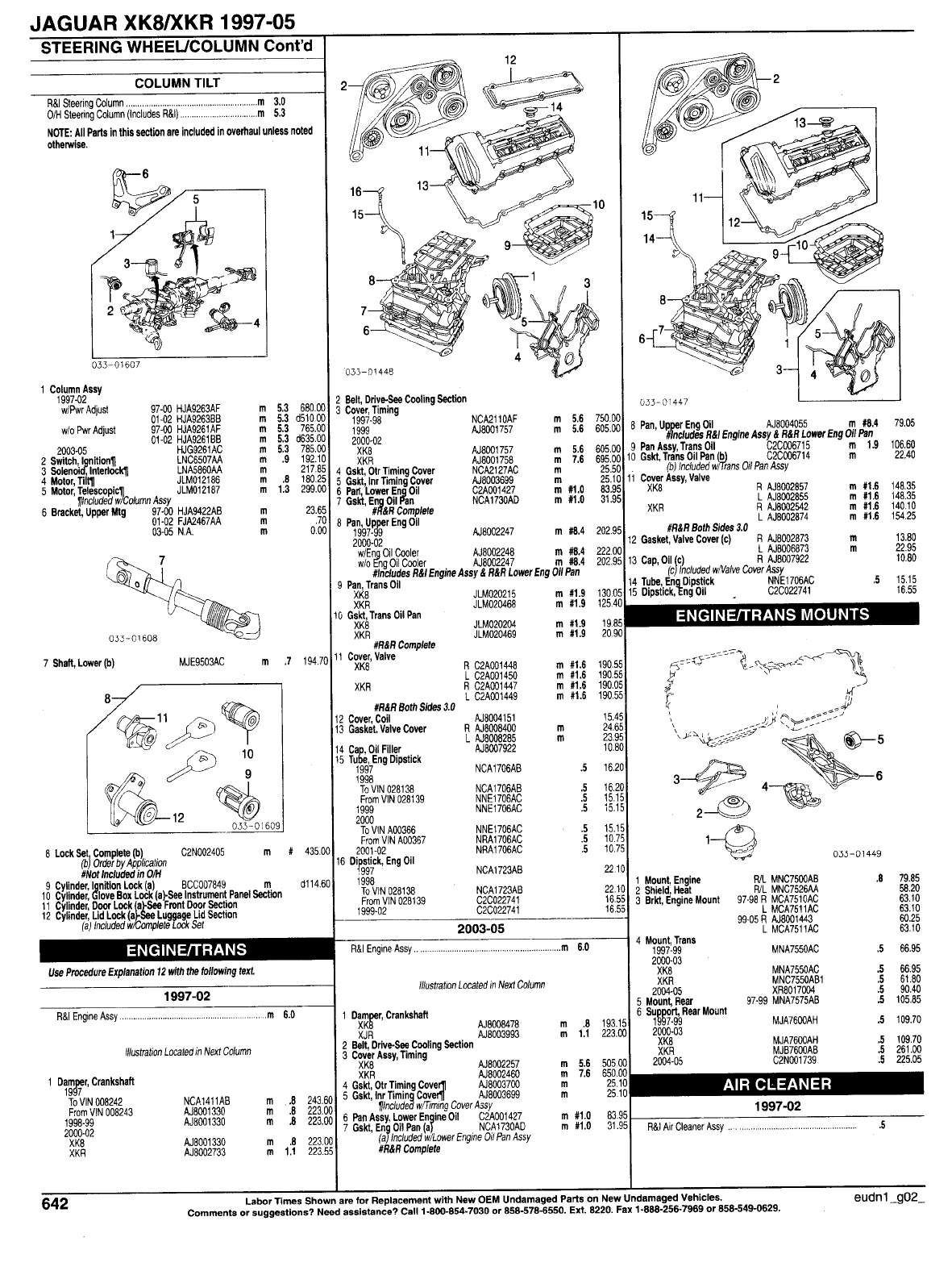 Jaguar Xkr Misc Document Jaguar Parts List