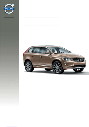 Volvo XC60 2013 Misc Documents Quick Guide Manual PDF