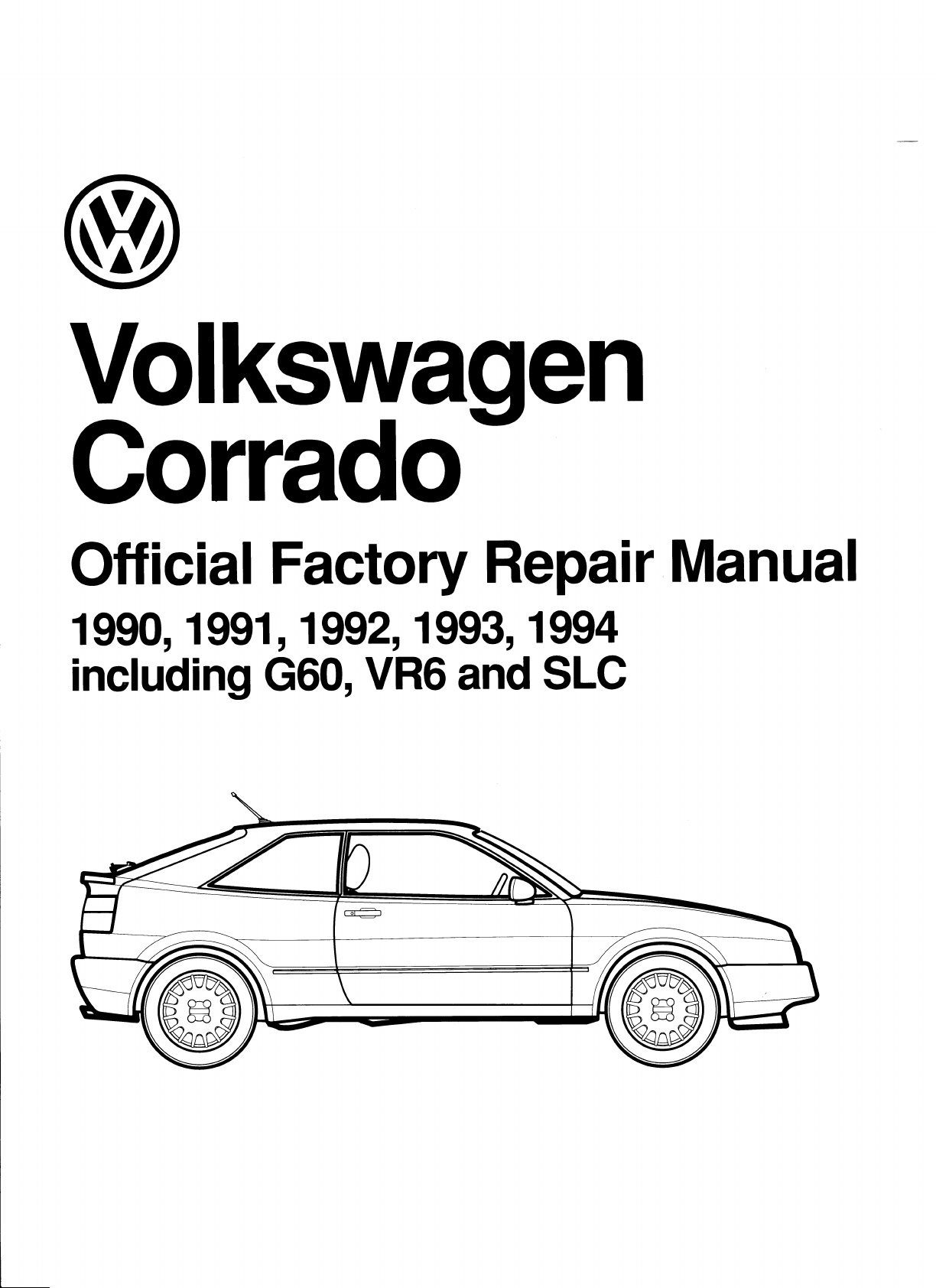 Volkswagen Corrado 1990 1994 Workshop Manual PDF