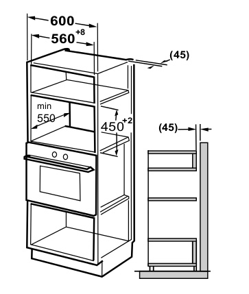 Buy Belling BIMW60 Built In Combination Microwave