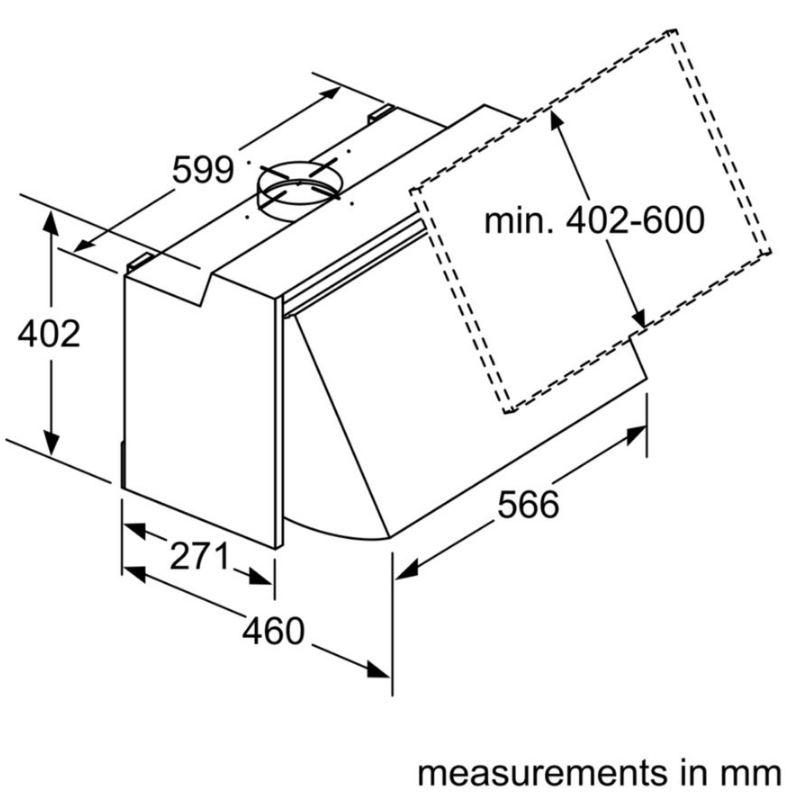 Buy Neff N30 D61MAC1X0B Integrated Hood (D61MAC1X0B