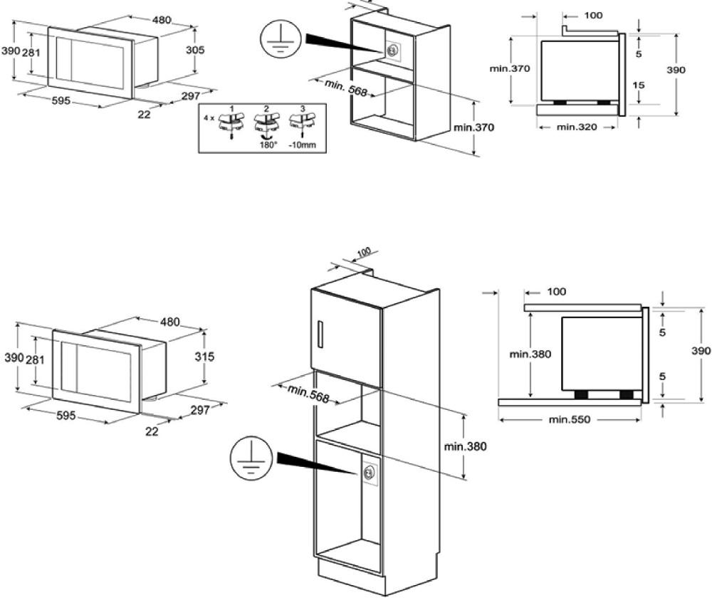 Smeg FMI120 Linea Built In Microwave with Grill (FMI120