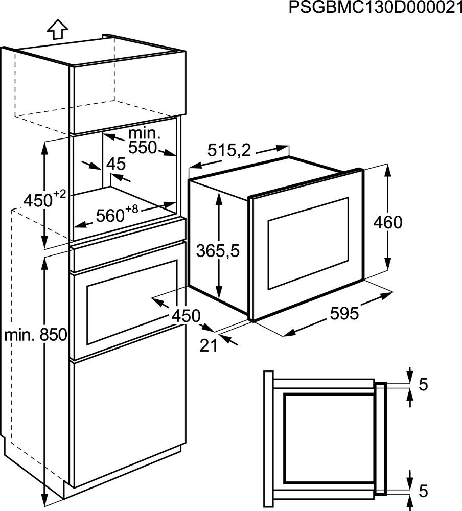 Buy Zanussi ZSC25259XA Built In Combination Microwave