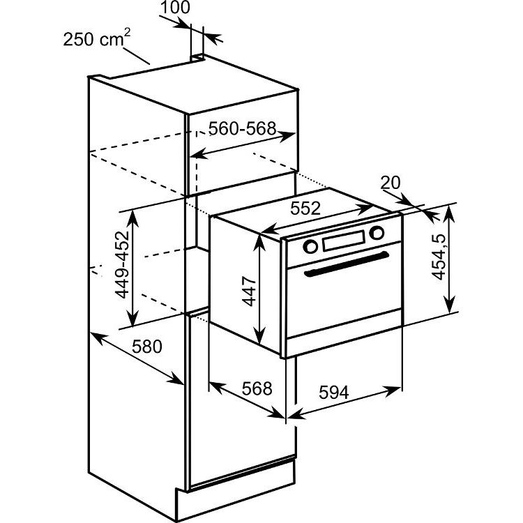 Buy Baumatic BMC460BGL Built In Combination Microwave
