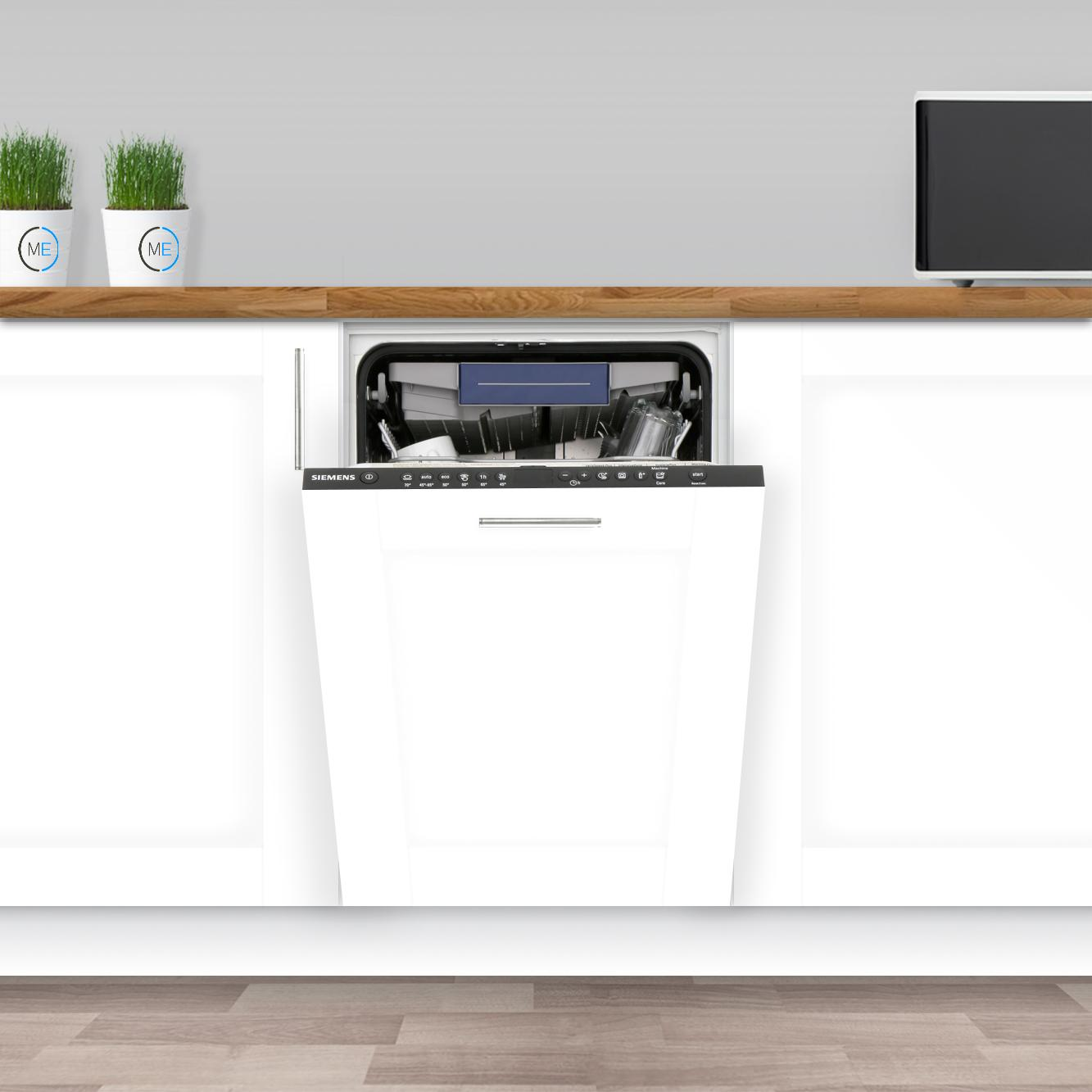 Buy Siemens iQ300 SR636D00MG Built In Fully Int. Slimline Dishwasher (SR636D00MG) - Stainless Steel Control Panel   Marks Electrical