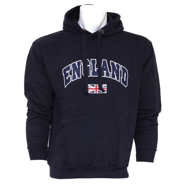 Mens England Union Jack Hooded Sweatshirt Jumper Hoodie Xs