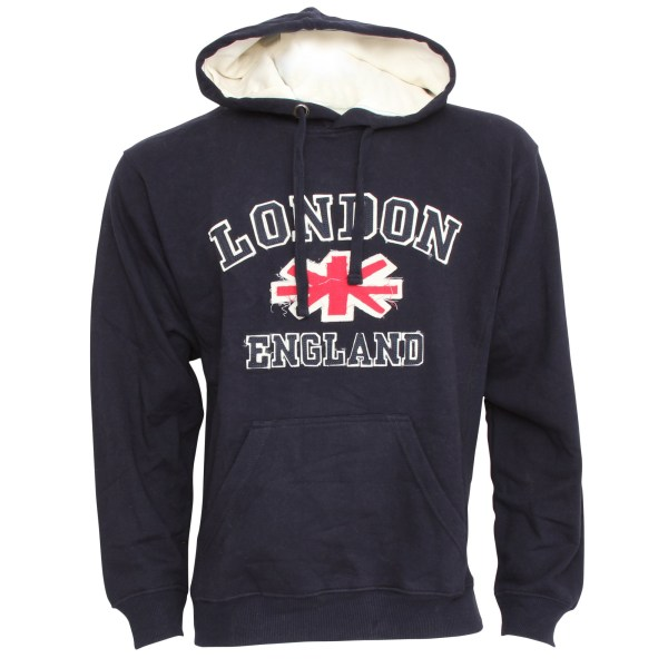Mens London England Uk Hooded Sweatshirt Jumper Hoodie Xs