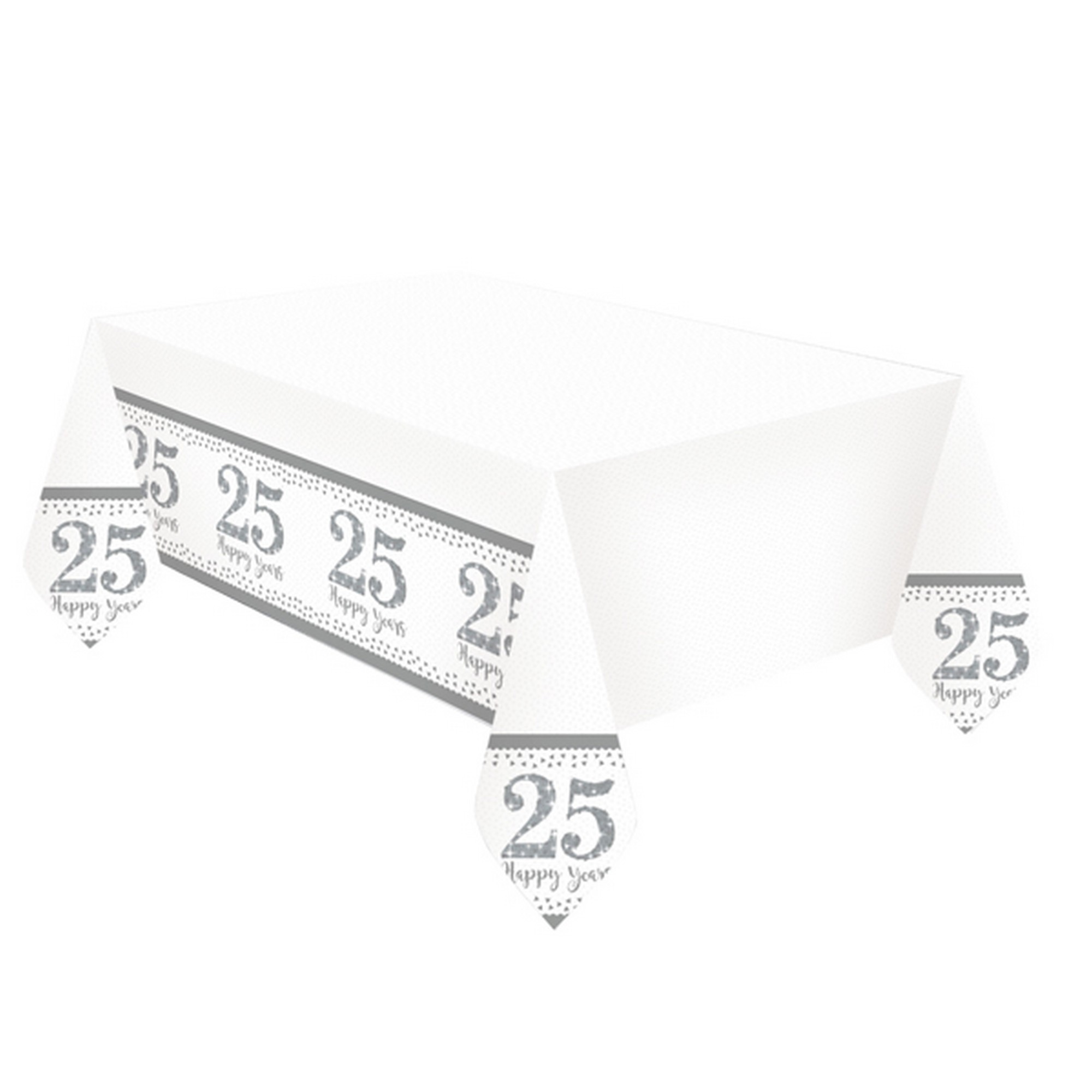 Amscan Silver Anniversary Plastic Tablecover (SG11970
