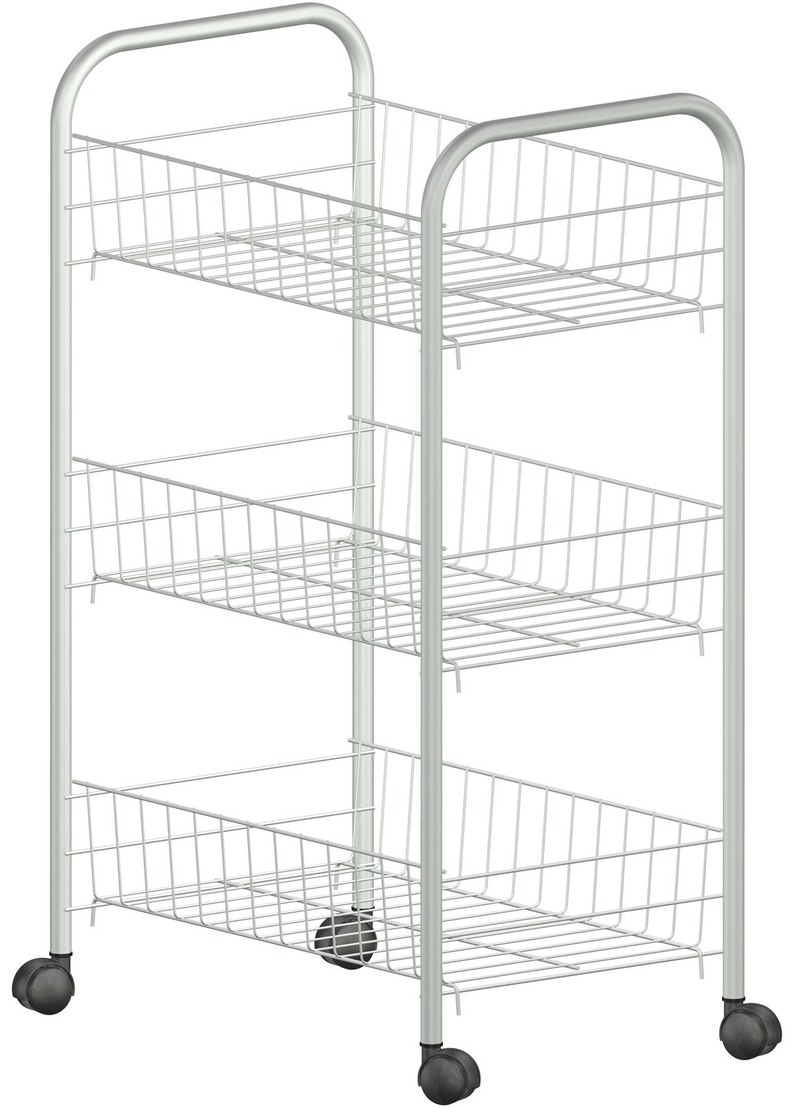 Filplast Vitalyty 3 Tier Storage Cart With Removable Wire