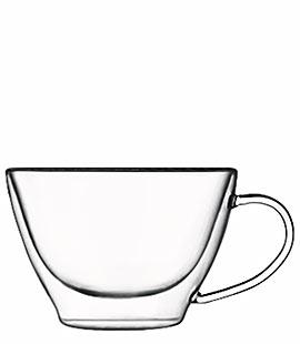 Luigi Bormioli 2 Coffee or Tea Glasses in Thermic Glass 38