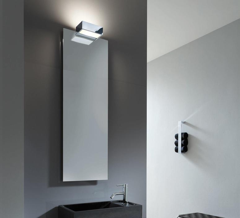 Applique Murale De Salle De Bain Avec Fixation Miroir Box 1 25 N Chrome Led L25cm H5cm Decor Walther Luminaires Nedgis