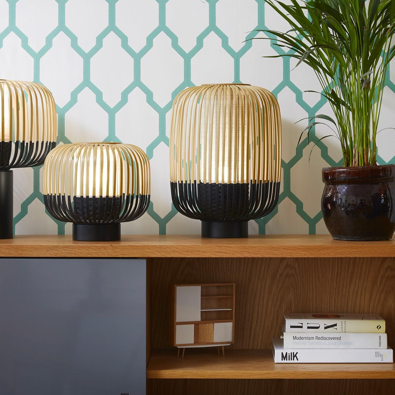 Lampe Poser BAMBOO LIGHT Bambou Noir H39cm