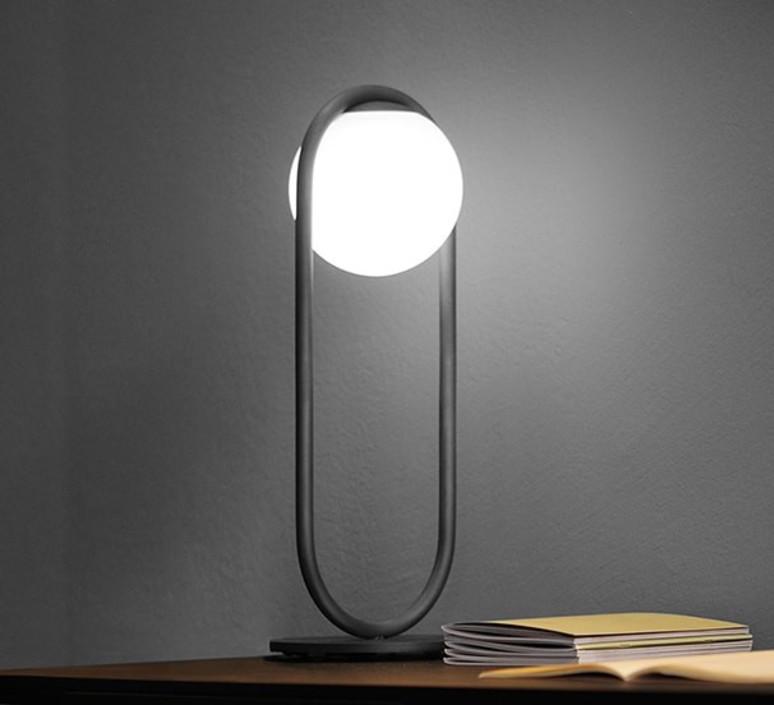 table lamp c ball t black o19cm h50cm b lux