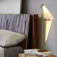 Table lamp, Perch Light Table, white, gold, H61,5cm ...