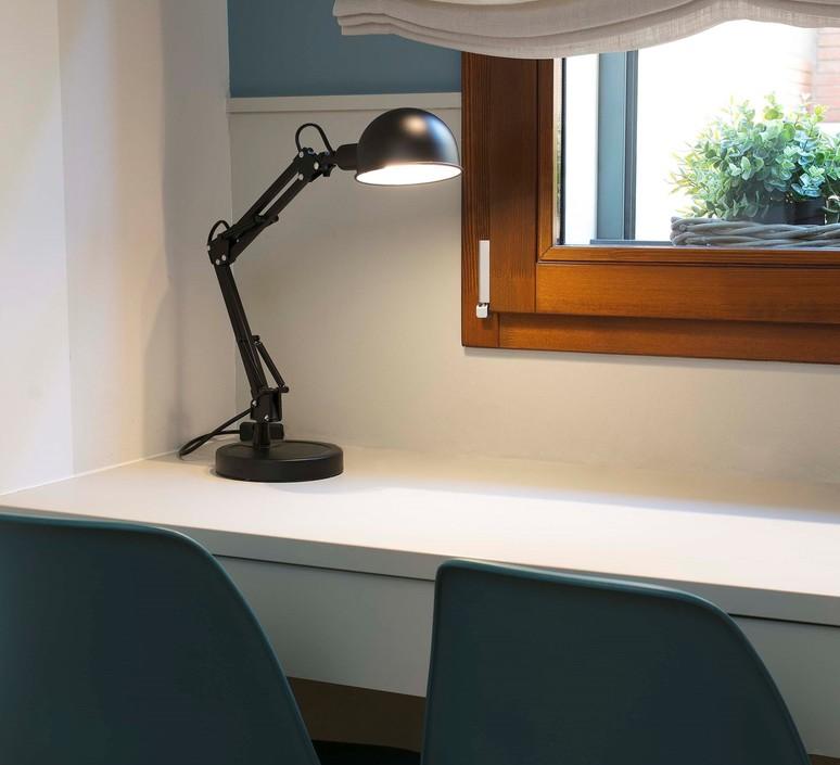 lampe de bureau industrielle noir baobab h49cm l34cm faro