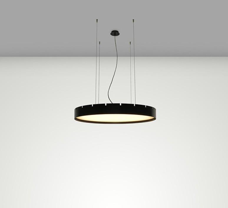 pendant light castle s60 black led o60cm h10cm b lux