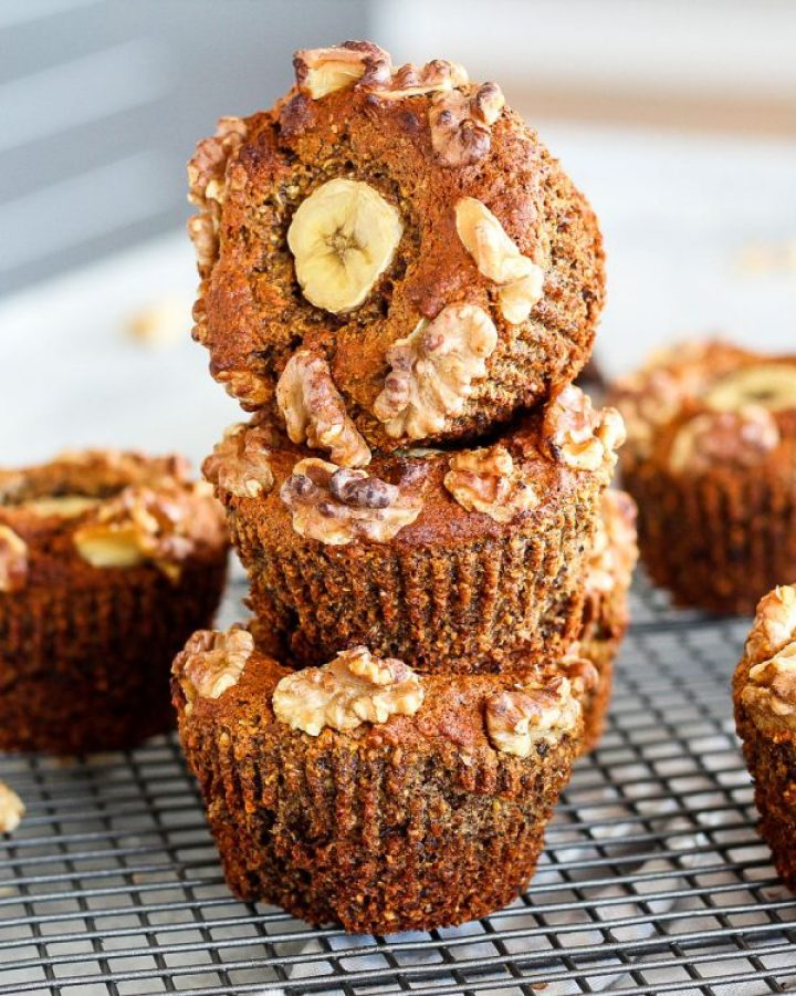 Walnut date and Banana Muffins