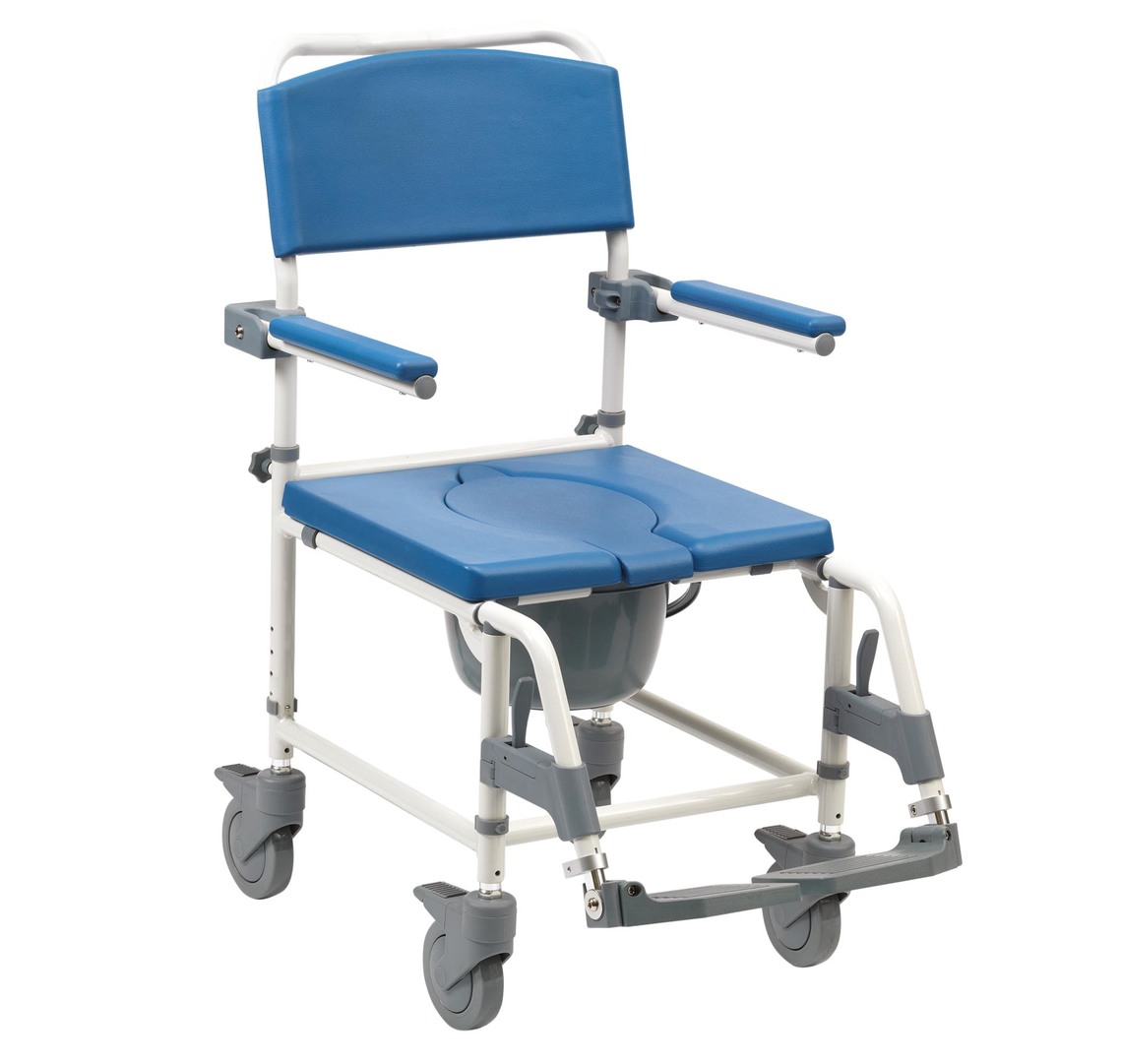 Mobile Chair Aston Commode Mobile Shower Chair