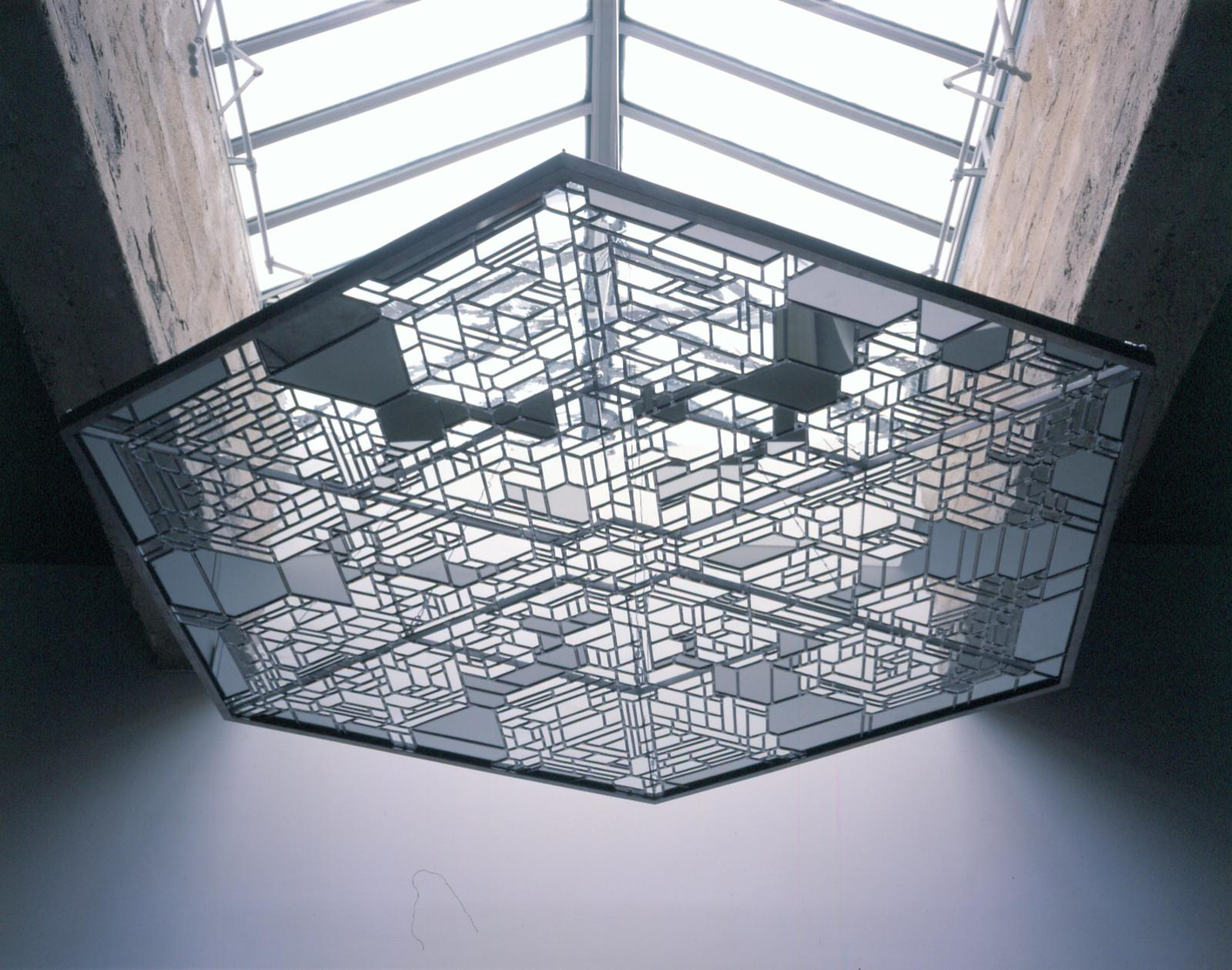 stainless steel kitchen modern window treatments snow crystal roof • artwork studio olafur eliasson