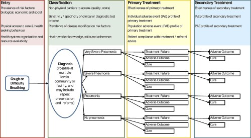 small resolution of simple conceptual framework for a pneumonia case management guideline based on current who advice illustrating some of the areas for which improved global