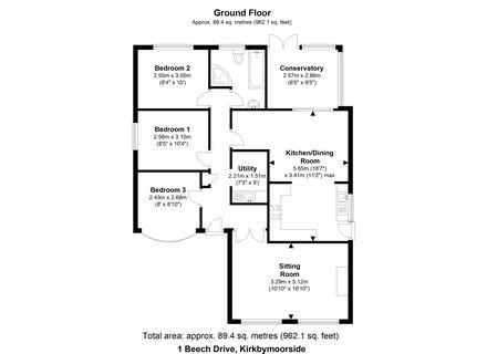 3 bedroom Detached Bungalow for sale: Beech Drive