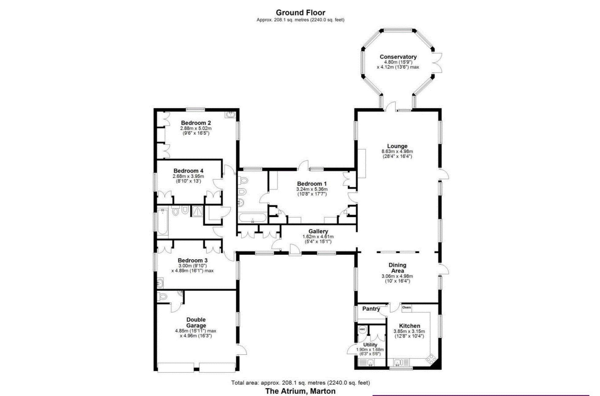 4 bedroom Detached Bungalow for sale: Marton Sinnington
