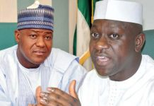 Image result for High court stalls Jibrin's case against NASS, Dogara