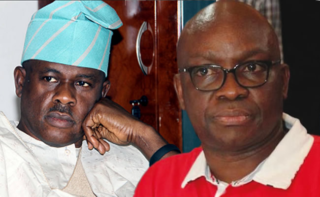 Image result for fayose and obanikoro