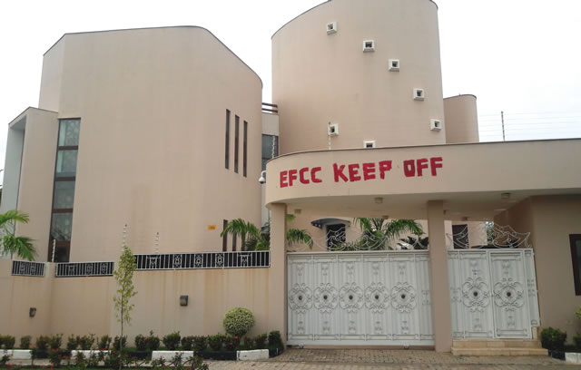 Dikko's mansion located at 1 Audu Ogbeh Street, Jabi, Abuja… on Wednesday