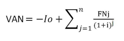 Fórmula VAN o Valor Actual Neto