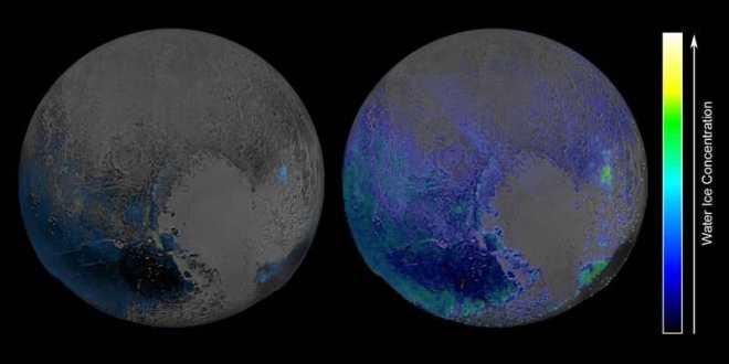 Pluton possède de l'eau gelée, beaucoup d'eau gelée