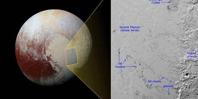 Des icebergs possibles sur Pluton