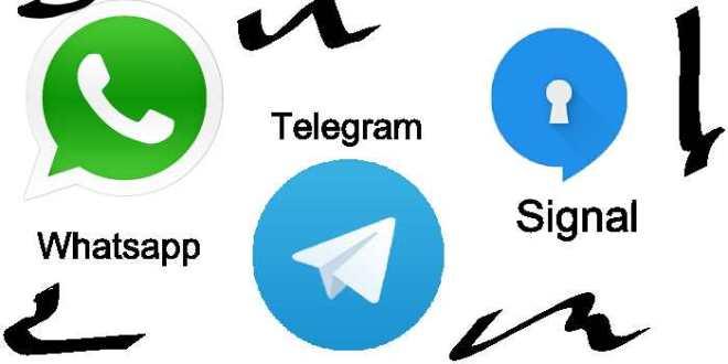 Comparaison entre Whatsapp, Telegram et Signal