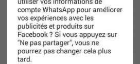 Whatsapp : Comment désactiver le partage de vos informations sur Facebook