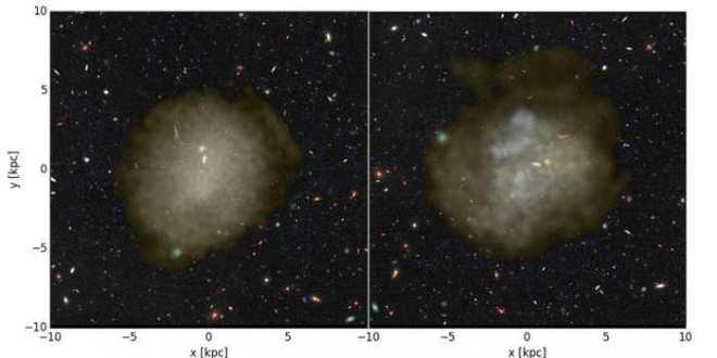Des explosions de supernovae à l'origine des galaxies ultra-diffuses ?