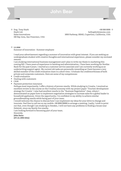 Cover Letter Examples by Real People Norwegian cabin crew cover letter sample  Kickresume