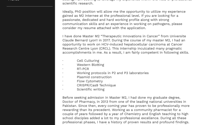 Example Of Phd Cover Letter Cute766