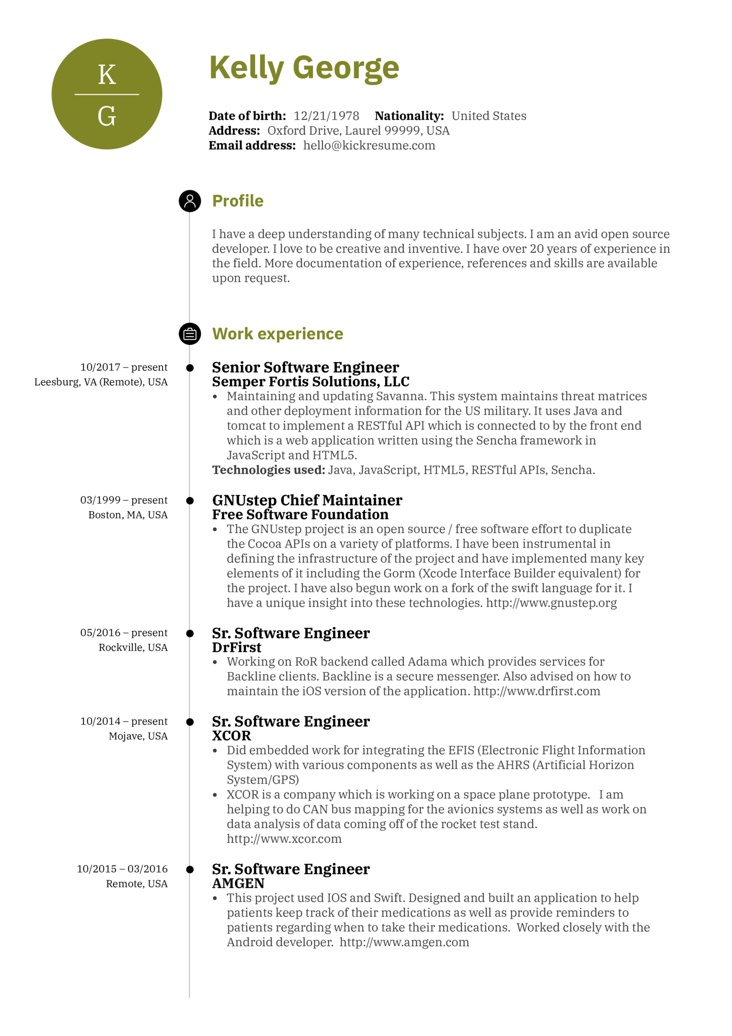 Software Professional Resume Samples Resume Examples By Real People Senior Software Engineer Resume