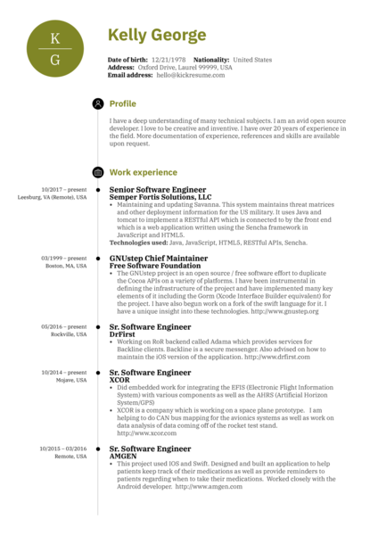 Software Engineering Resume Samples from Real Professionals Who got Hired  Kickresume