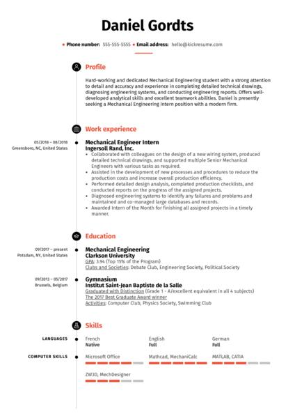 student resume biomedicine