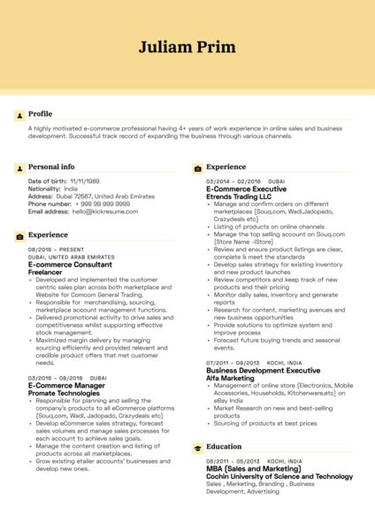 750 Resume Samples From Real Professionals Who Got Hired Kickresume