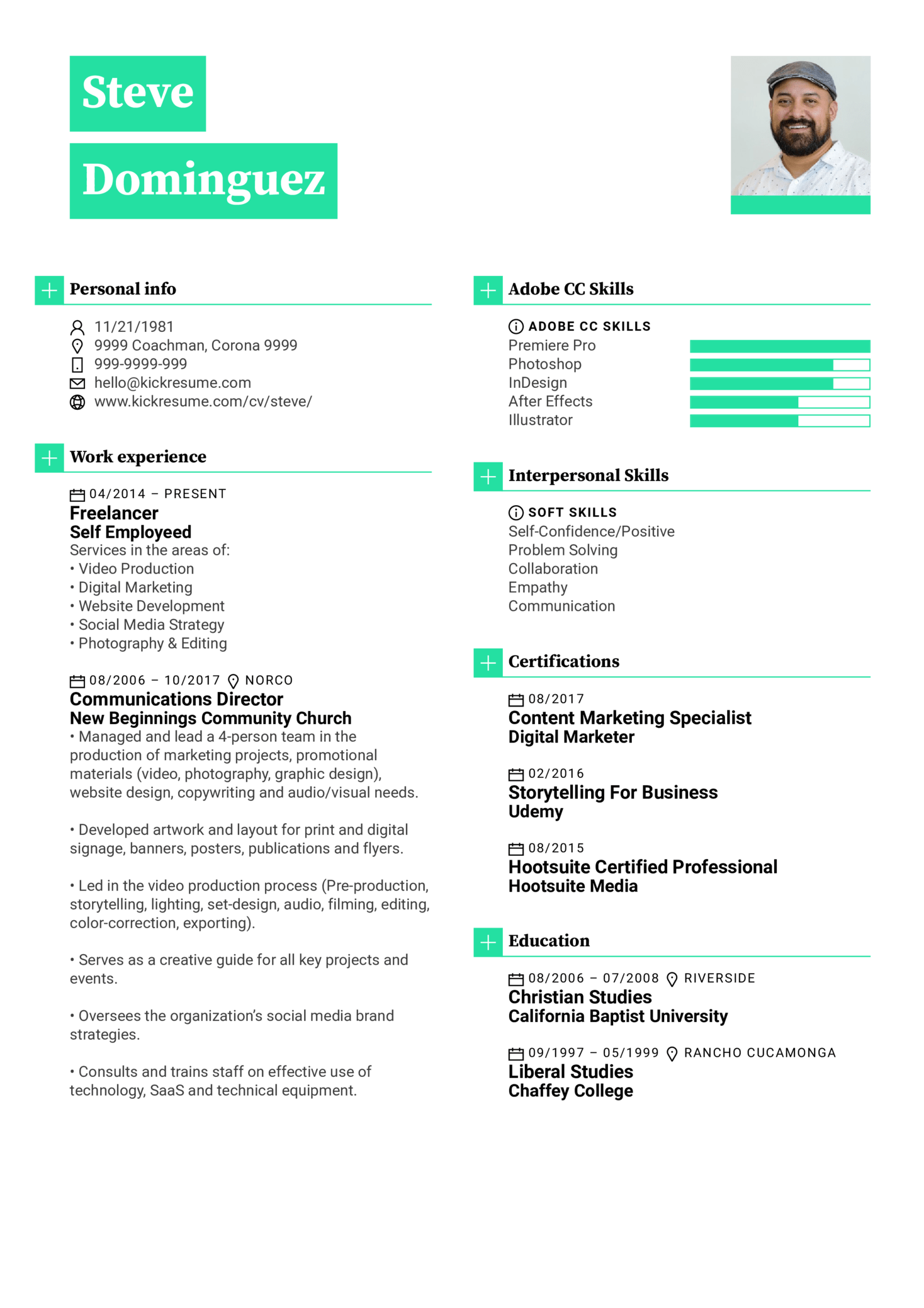 Resume Examples by Real People: Graphic designer resume sample ...