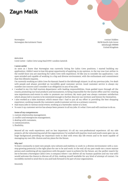 Cover Letter Examples by Real People Student summer job cover letter sample  Kickresume