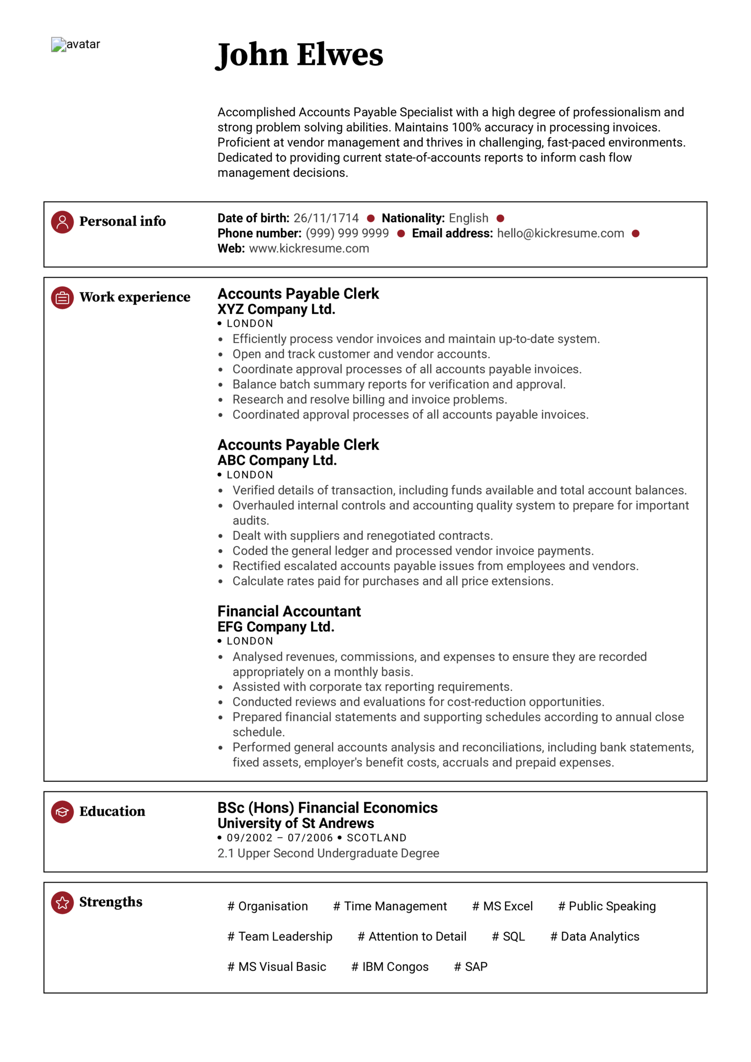 Accountant Sample Resume Resume Examples By Real People Senior Accountant Resume