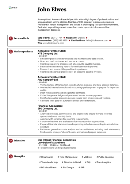 Resume Examples by Real People Senior Accountant Resume Sample  Kickresume