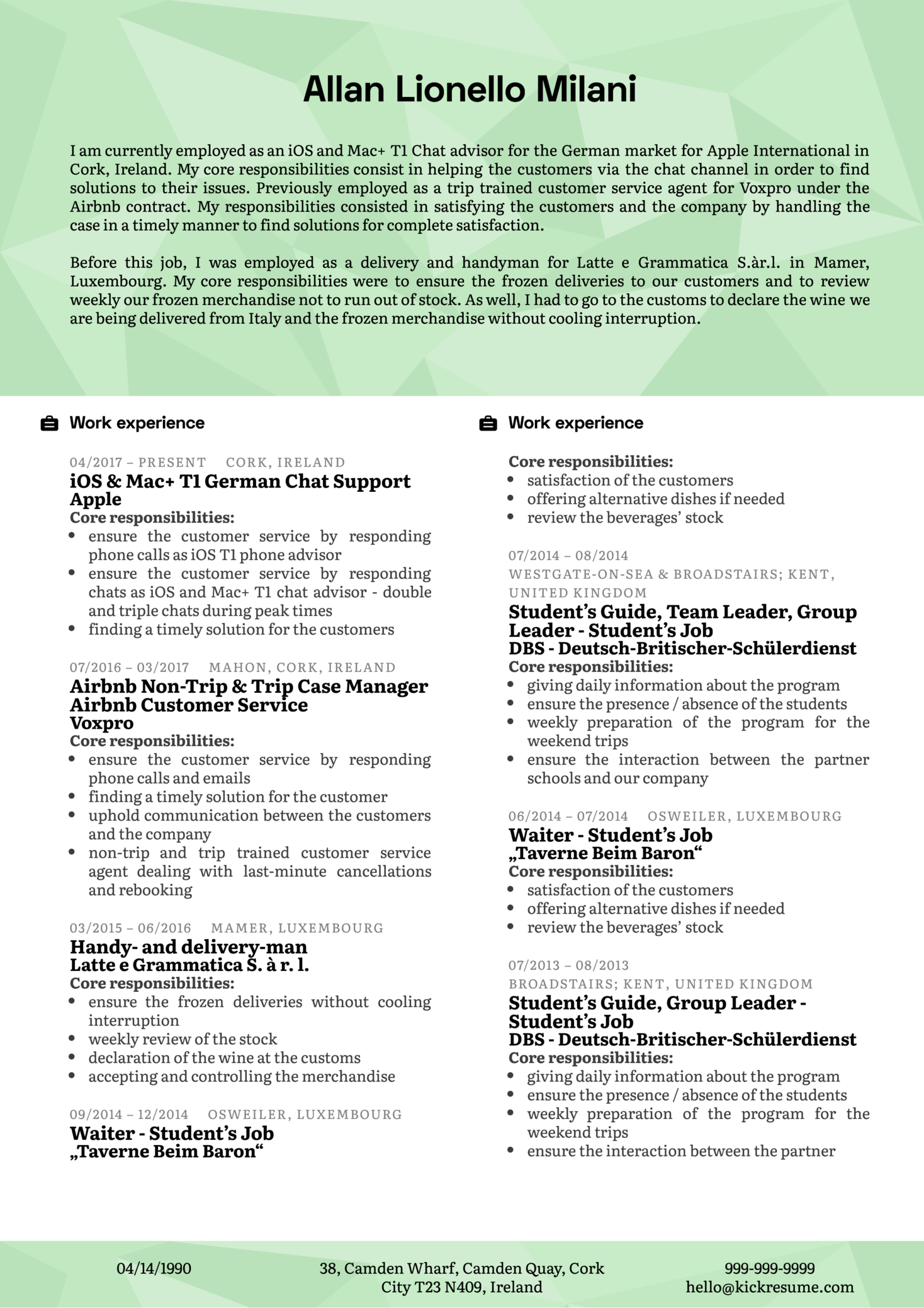 customer support manager resume sample