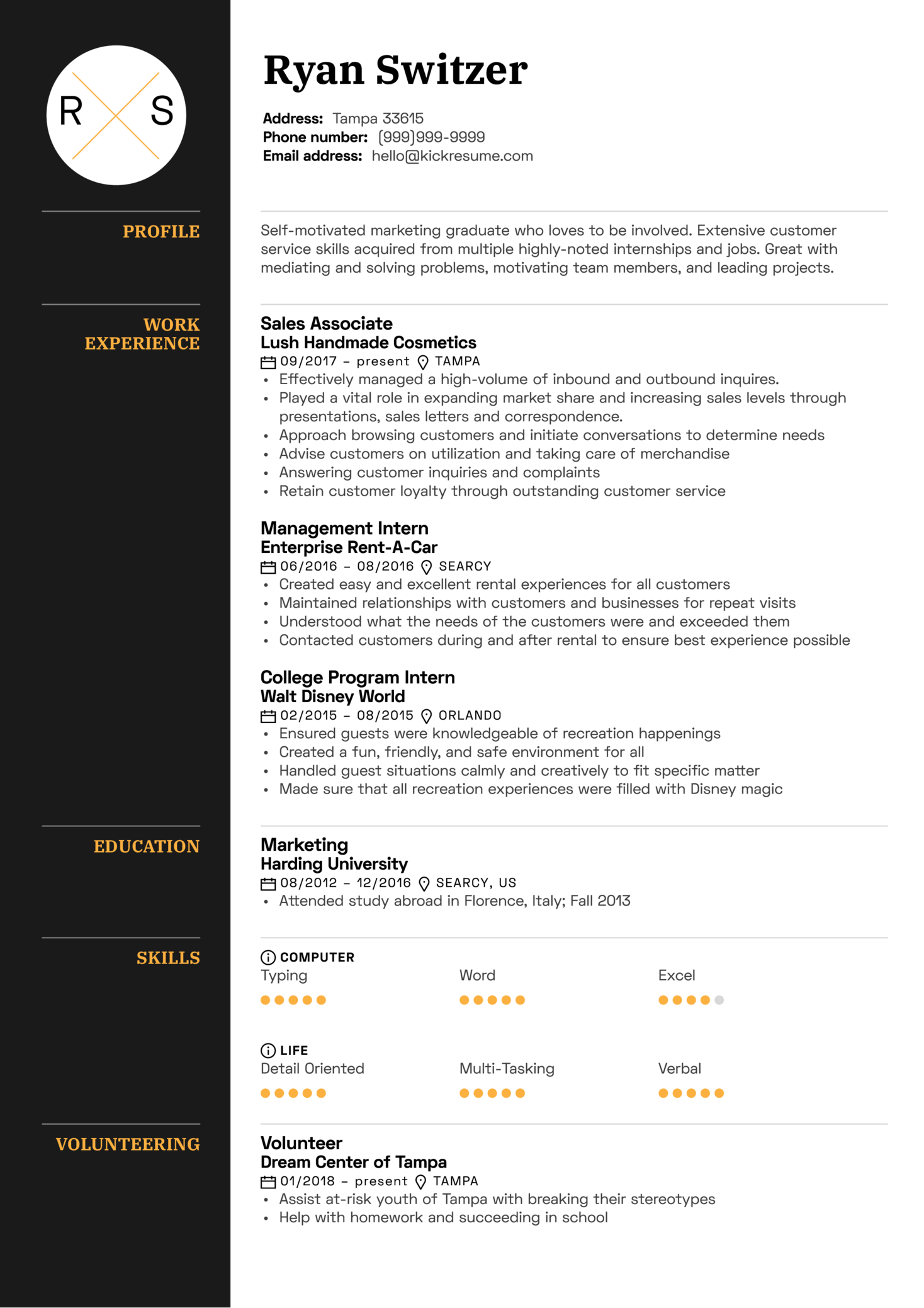 Resume Examples by Real People Sales associate resume template  Kickresume
