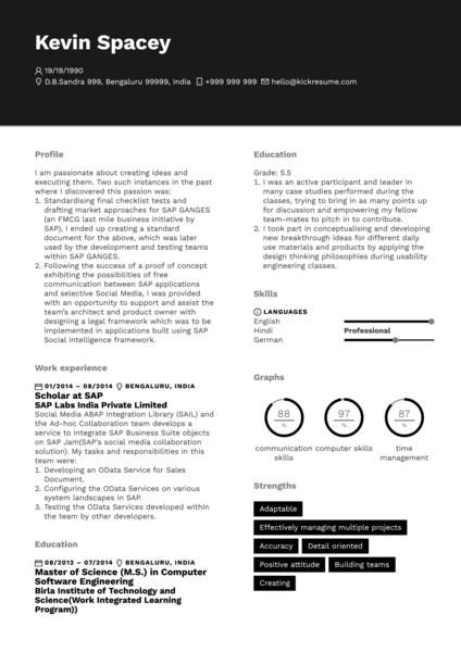 Famous People Resumes Resume Samples From Real