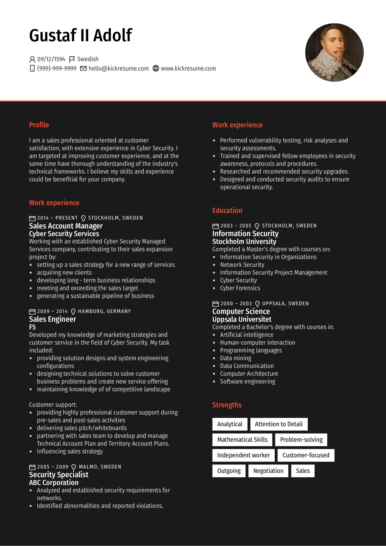 Resume Examples By Real People Cyber Security Account